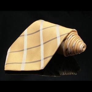 Ermenegildo Zegna Light Gold Grey Stripes